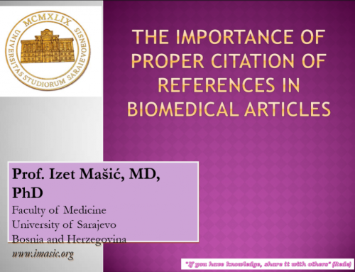 The Importance of Proper Citation of References in Biomedical Articles